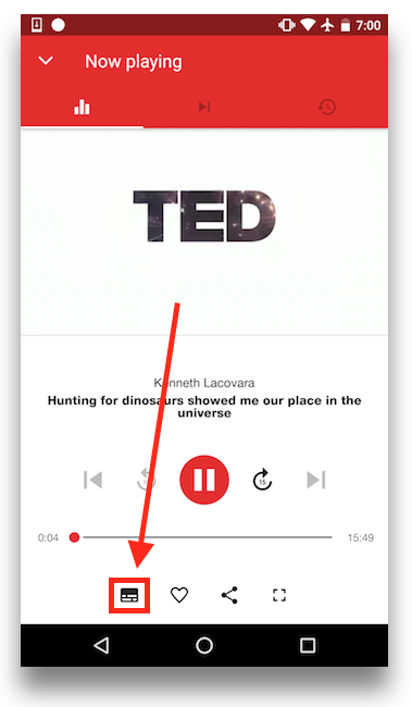 Watching talks with subtitles – TED